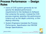 process performance design rules