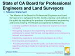 state of ca board for professional engineers and land surveyors