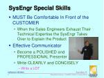 sysengr special skills