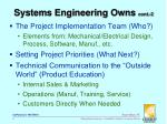 systems engineering owns cont 2
