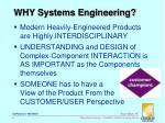 why systems engineering