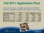 fall 2011 application pool1