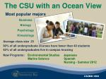 the csu with an ocean view