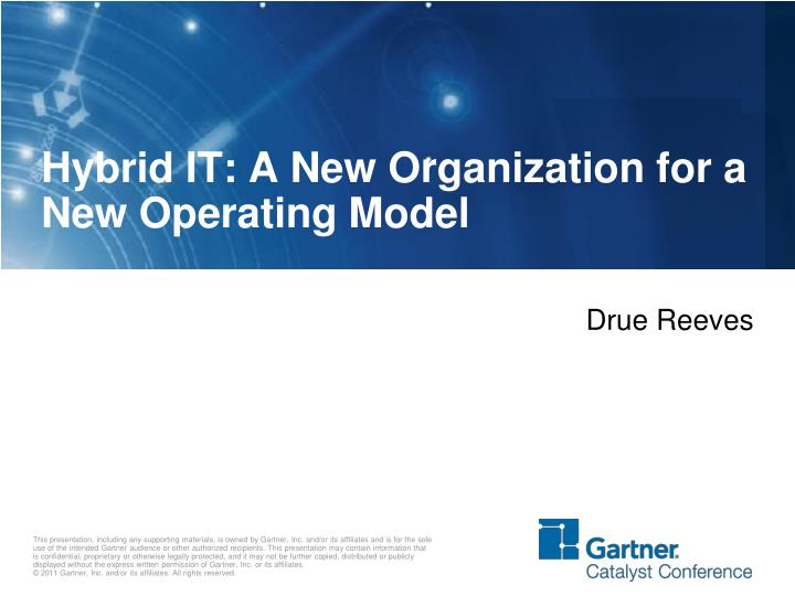 hybrid it a new organization for a new operating model n.
