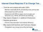 internal cloud requires it to change too