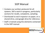 sop manual