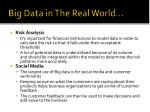 big data in the real world1