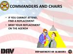 commanders and chairs