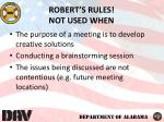 robert s rules not used when