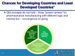 chances for developing countries and least developed countries