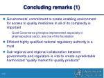 concluding remarks 1