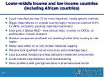 lower middle income and low income countries including african countries