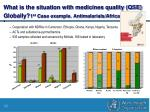 what is the situation with medicines quality qse globally 1 st case example antimalarials africa