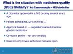 what is the situation with medicines quality qse globally 3rd case example nis biosimilar