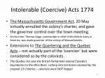 intolerable coercive acts 17742