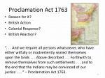 proclamation act 1763