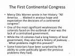the first continental congress1