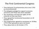 the first continental congress2