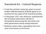 townshend act colonial response