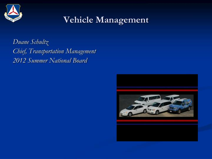 vehicle management n.