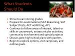 what students should do