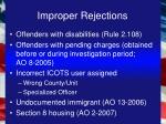 improper rejections