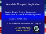 interstate compact legislation