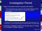 investigation period