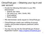 clinicaltrials gov obtaining your log in and user account