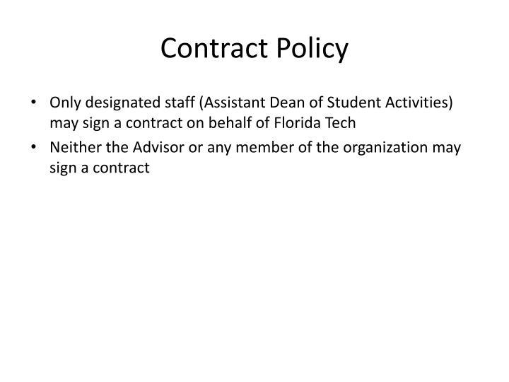Contract Policy