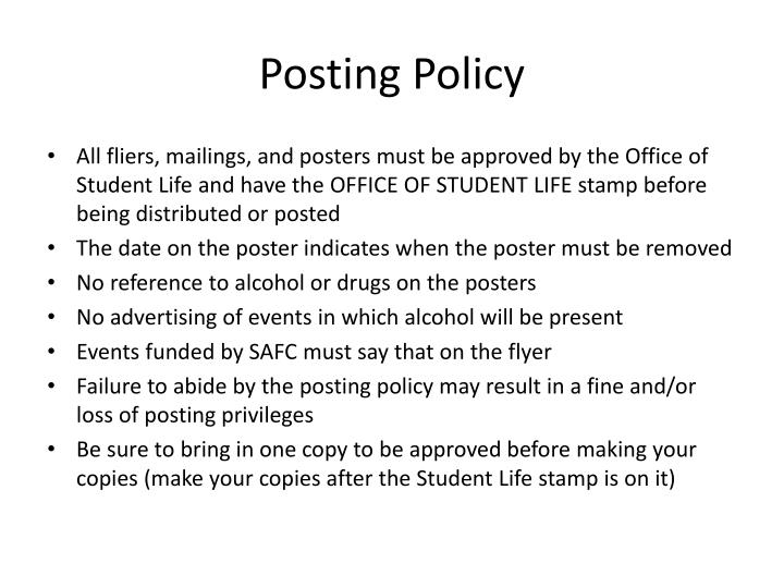 Posting Policy