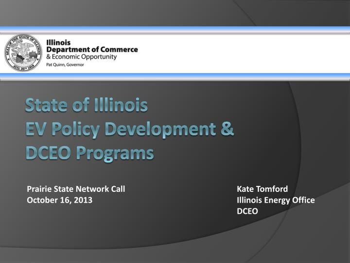 state of illinois ev policy development dceo programs n.