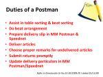 duties of a postman