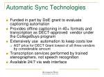 automatic sync technologies
