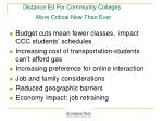 distance ed for community colleges more critical now than ever
