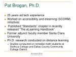 pat brogan ph d