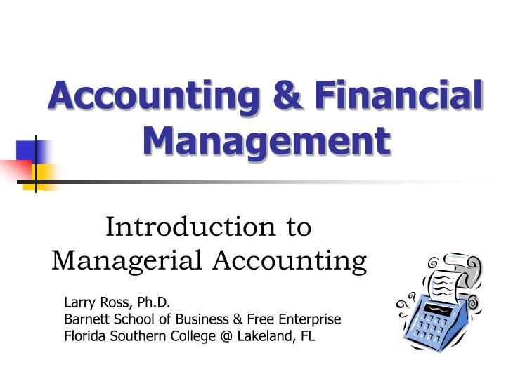 accounting financial management n.