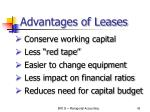 advantages of leases