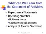 what can we learn from the statement of activities