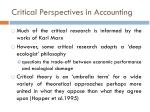 critical perspectives in accounting2