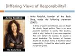 differing views of responsibility1