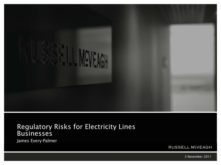 regulatory risks for electricity lines businesses james every palmer n.