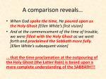 a comparison reveals