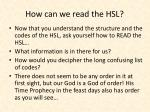 how can we read the hsl