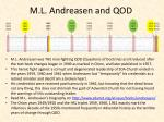 m l andreasen and qod