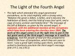 the light of the fourth angel
