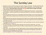the sunday law