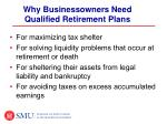 why businessowners need qualified retirement plans