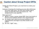 caution about group project dfds