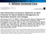 2 athlete centered care